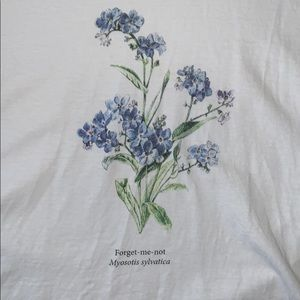 forget-me-not graphic tee
